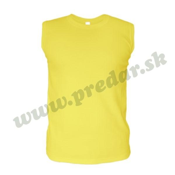 855f6646eae4 ... Pánske tričko bez rukávov - žltá ...