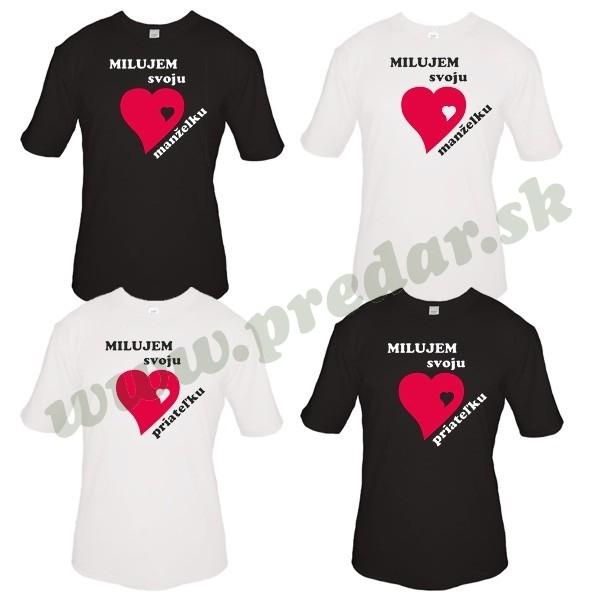 852d5b211742 Valentínske pánske tričko srdiečko