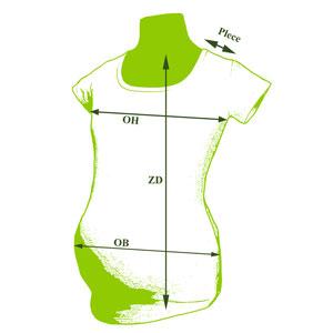 Tehotenské tričko páskovaný krk