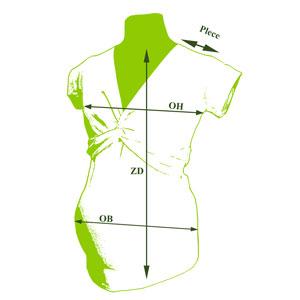 Tehotenské tričko uzlík